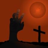 Subida de los zombis - negro anaranjado stock de ilustración