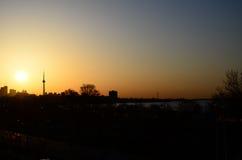 Subida de Sun Imagen de archivo