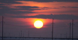Subida de Sun Fotos de archivo