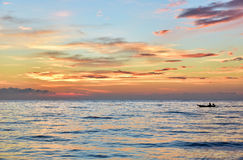 Subida de Sun por la mañana Imagen de archivo