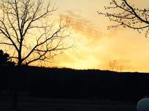 Subida de Sun temprano por mañana Foto de archivo
