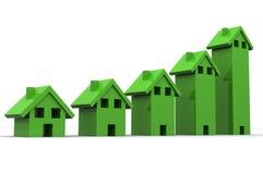 Subida del mercado inmobiliario Imágenes de archivo libres de regalías