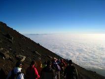 Subida del Mt. Fuji Fotos de archivo libres de regalías