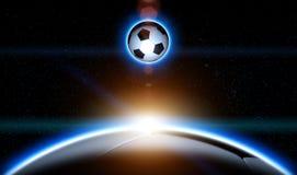 Subida del planeta del balón de fútbol libre illustration
