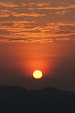 Subida del sol de Beautuful Imagen de archivo libre de regalías