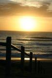 Subida del sol de Cronulla Imagenes de archivo