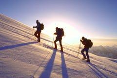 Subida en el montaje Elbrus Foto de archivo libre de regalías