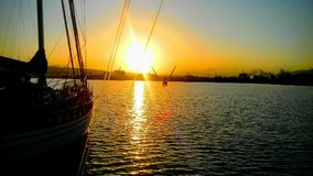 Subida hermosa del sol Imagen de archivo libre de regalías