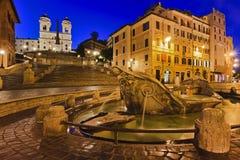 Subida izquierda española de Roma Foto de archivo libre de regalías