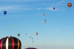 Subida maciça Bristol International Balloon Fiesta fotos de stock