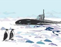 Subida submarina Foto de archivo libre de regalías