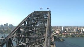 Subida Sydney del puente del puerto almacen de metraje de vídeo
