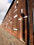 Subido encima de casas norteñas británicas Fotos de archivo libres de regalías