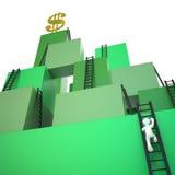 Subir la escalera al éxito ilustración del vector