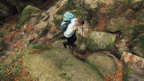 Subir para arriba las rocas metrajes