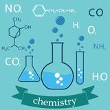 Subject of chemistry. Cover-background. vector eps8 Stock Images