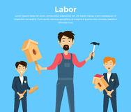 Subject of Labor Education Conceptual Banner Royalty Free Stock Photo