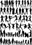 Subject People Silhouettes Royalty Free Stock Images