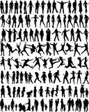 Subject People Silhouettes vector illustration
