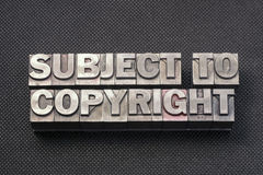 Subject to copyright bm Royalty Free Stock Photography