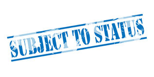 Subject to status blue stamp Stock Images