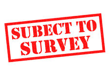 SUBJECT TO SURVEY Stock Photography