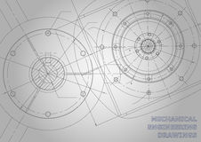 Subject vector background. Mechanical Engineering. Gray Mechanical engineering drawings. Background for inscription. Vector Corporate Identity Stock Photos
