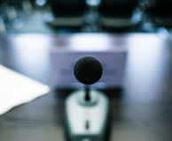 Subjective microphone Royalty Free Stock Photos