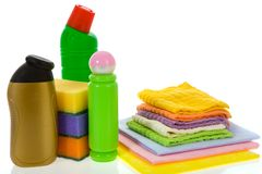 Subjects  for sanitary cleaning a house Stock Images