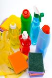 Subjects  for sanitary cleaning a house Royalty Free Stock Images