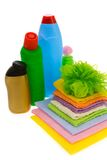 Subjects  for sanitary cleaning a house Royalty Free Stock Photo