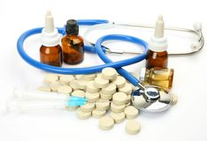 Subjects for treatment of illness Stock Photography