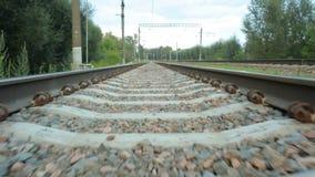 Subjektive Reise durch Schiene stock footage