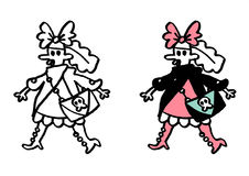 Subkultura gothic & lolita nastoletni Obraz Royalty Free