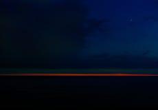 Suble sunset at sea Stock Photo