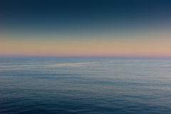 Suble sunset at sea Royalty Free Stock Photography