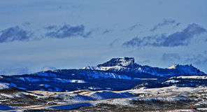 Sublette Peak in the Absaroka Mountain Range on Togwotee Pass as seen from Dubois Wyoming Stock Images