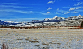 Sublette Peak in the Absaroka Mountain Range on Togwotee Pass as seen from Dubois Wyoming Stock Photography