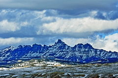 Sublette Peak in the Absaroka Mountain Range on Togwotee Pass as seen from Dubois Wyoming Royalty Free Stock Image