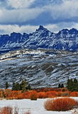 Sublette Peak in the Absaroka Mountain Range on Togwotee Pass as seen from Dubois Wyoming Royalty Free Stock Photo
