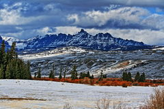 Sublette Peak in the Absaroka Mountain Range on Togwotee Pass as seen from Dubois Wyoming Royalty Free Stock Images
