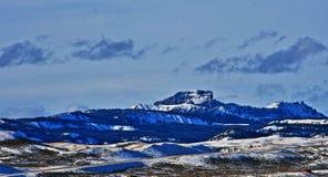 Sublettepiek in de Absaroka-Bergketen op Togwotee-Pas zoals die van Dubois Wyoming wordt gezien stock afbeeldingen