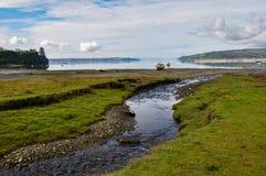 Sublim liten vik, Chiloé ö, Chile arkivfoto