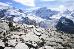 The Sublime. Monte Rosa and Liskamm seen from Gornergrat Royalty Free Stock Photos