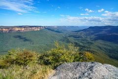 Sublime point lookout, blue mountains, australia 3. View from sublime point lookout, blue mountains national park, australia royalty free stock images