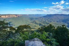 Sublime point lookout, blue mountains, australia 9. View from sublime point lookout, blue mountains national park, australia stock photo