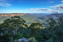 Sublime point lookout, blue mountains, australia 8. View from sublime point lookout, blue mountains national park, australia stock photo