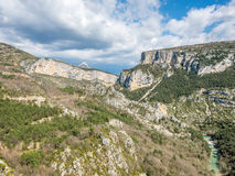 Sublime point viewpoint in France Royalty Free Stock Photos