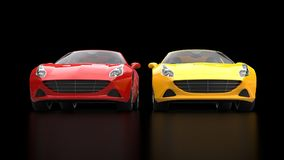 Free Sublime Red And Yellow Super Sports Cars Side By Side Royalty Free Stock Images - 96208079