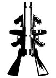 Submachine gun. The vector image of the gangster submachine gun Royalty Free Stock Photo